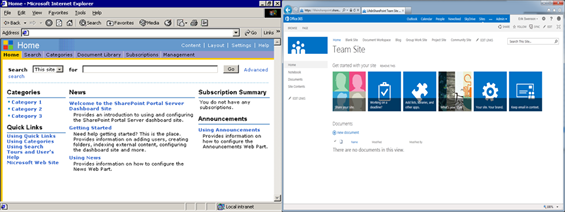 SharePoint user experience improvements